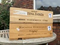Wine crates for upcycling/storage