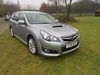 SUBARU LEGACY BOXER 2.0 DIESEL ESTATE AWD, FULL BLACK LEATHER, 2010, PLEASE READ ALL THE ADD