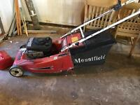 Lawn mower with roller mountfield emperor