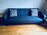 Sofa / Sofa Bed Grey Fabric