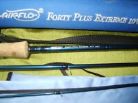 FLYROD 10FT AIRFLOW 40 PLUS 3PC 6/7 LINES WITH ROD TUBE V G C