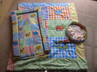 BEAUTIFUL JUNGLE THEME CHANGING MAT & BEDDING (Mothercare) BARGAIN PRICE - Bright Colours + FREE BOX