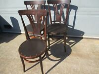 SET OF THREE 3 TRIO OF VINTAGE BENTWOOD CHAIRS FREE DELIVERY