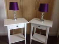 Bed side cabinets and bed side lamps