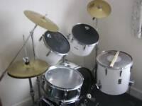 premier drum kit white