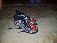 Nike hypervenom astro football boots (size 4)