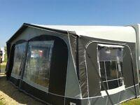 Caravan Awning Dorema Supreme XL270 (2014), 925-950, 2.5m deep grey, curtains & 2 extra roof poles