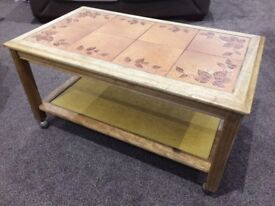 Small tiled coffee table