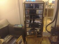 Laura Ashley mirrored tall chest of drawers