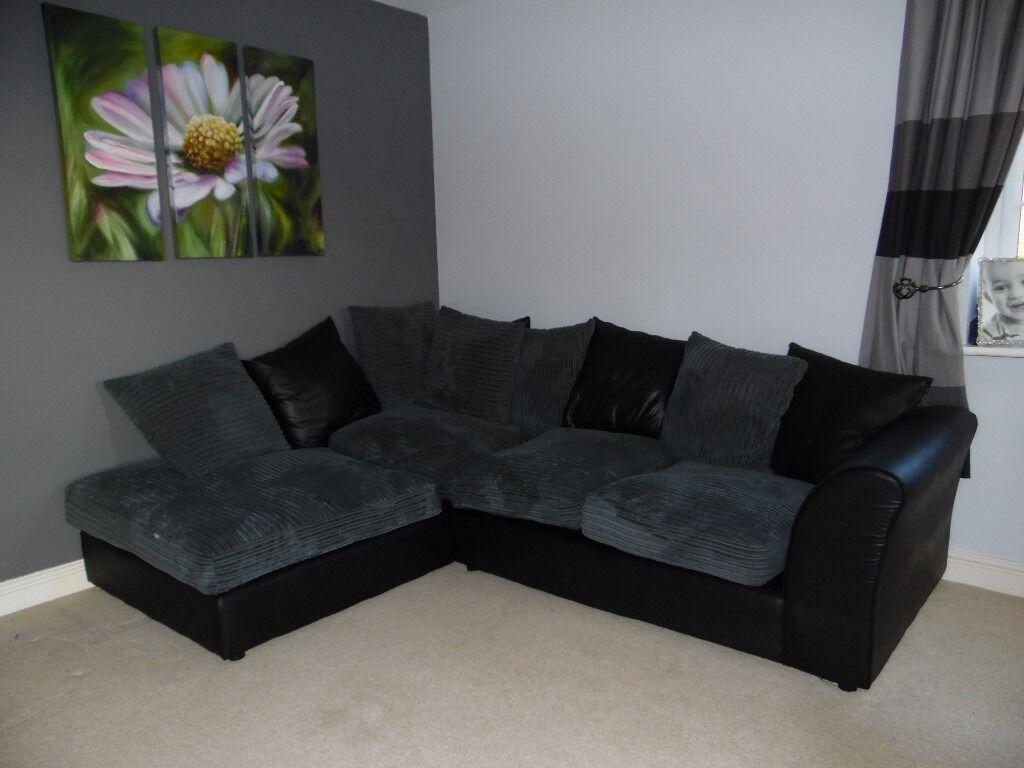 Jumbo Cord Charcoal Corner Sofa From The Argos Bailey