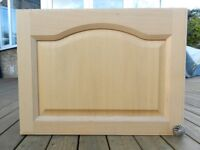 Kitchen wall unit with oak door 600mm wide x 460mm high x 300mm deep including door.
