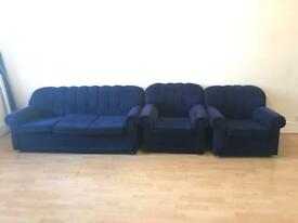 One sofa and two chairs for sale