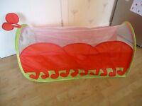 Caterpillar crawl through pop up tunnel play tent