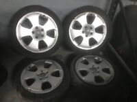 "Audi A3 2004-2010 17"" alloy wheels with free tyres - breaking s line"