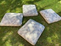 4 Giant Garden or living room cushions with removable covers