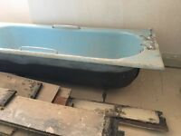 Cast Iron Bath Free, in good condition.