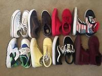 8 Pairs of Trainers, Vans, Converse, Huarache