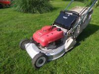 Honda HR 2160 Petrol Lawnmower with Rear Roller self propelled