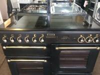 Black rang master 110cm gas cooker grill & double ovens good condition with guarantee
