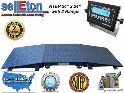 Floor Scale Ntep 2 Ramp 24 X 24 2 X 2 5000 Lbs X 1 Lb With Lcd Display