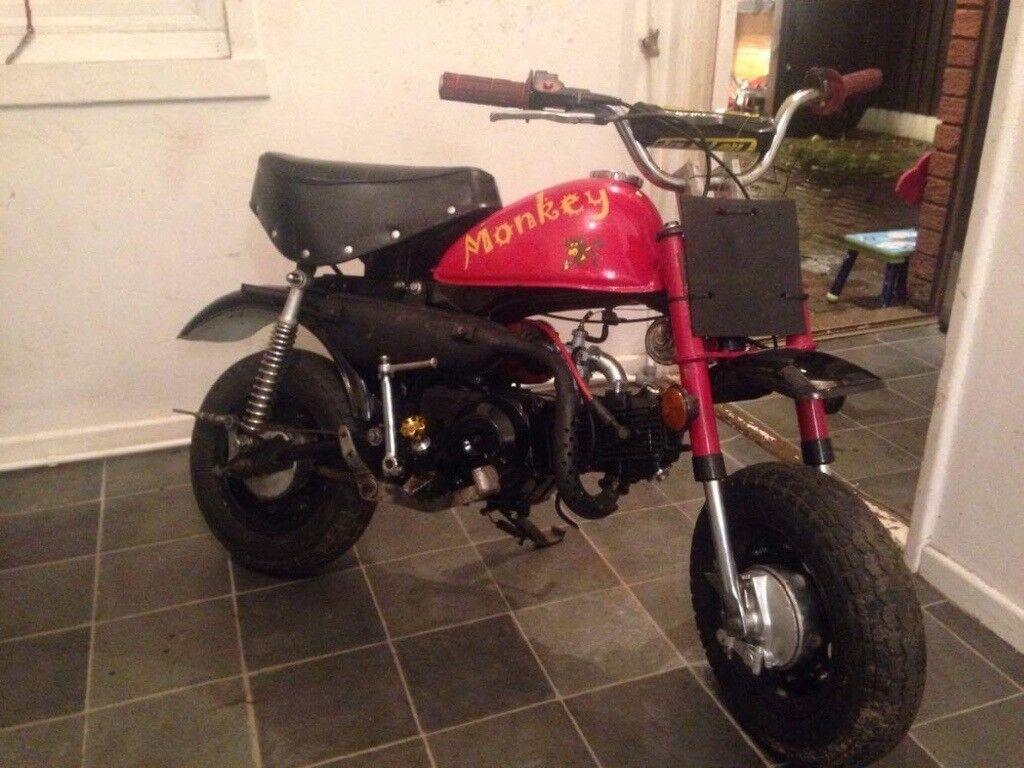 Monkeybike 70cc Monkey Bike Not Pit Bike Project Needs Tlc Runs