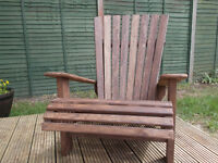 Upcycled Wooden Garden Chair wooden pallet shabby chic up cycled handmade
