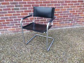 Original Rare Habitat Hamilton Leather Office Chair - Made in Italy