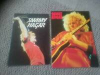 SAMMY HAGAR - 2 Tour programmes 1980 and 1982