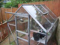 Fully glazed 8x6 aluminium greenhouse
