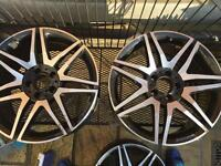 Genuine Mercedes AMG black diamond cut alloys