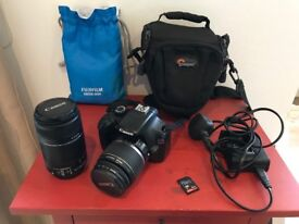Canon 1100D DSLR Camera with 2 lens + extras
