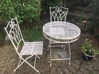 Metal Outdoor Table And Chairs Cream Colour