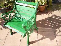 cast iron garden chair
