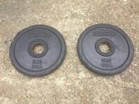 Ivanko ROEZH Olympic Rubber E-Z Lift Plates Pair (5KG)