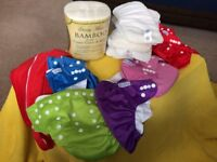 Petit Marin washable Cloth Nappy Bundle with Bamboo Inserts