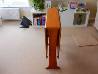 Gateleg dining table, solid wood (teak)