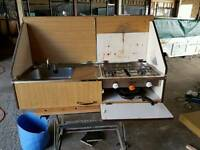 Trailer tent kitchen & seats....perfect for van conversion