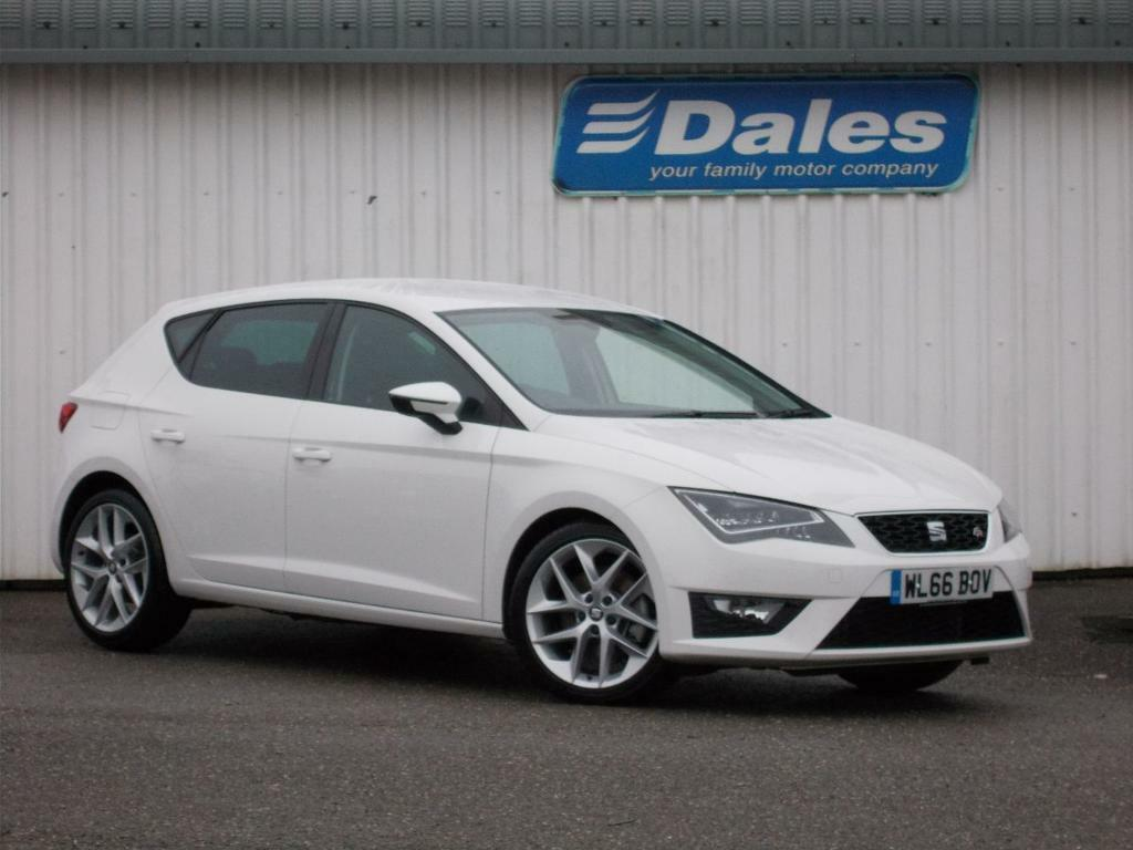 seat leon 2 0 tdi fr 184 technology 5dr hatchback white. Black Bedroom Furniture Sets. Home Design Ideas