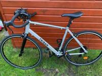 New TRIBAN RC100 road bike - grey - size: large and helmet