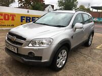 2007 CHEVROLET CAPTIVA 2.0 DIESEL AUTOMATIC 7 SEATER BLACK LEATHERS 98 000 MILES