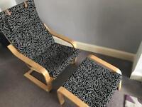 IKEA Chair & Footstool - Poang range