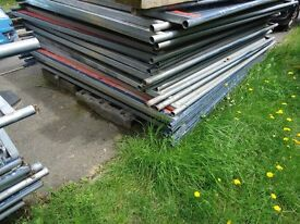 Metal hoarding and also shop front