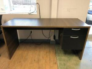 Brand New 24 x 60 Single Pedestal Straight Desk - $249