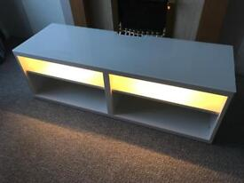 Glass top tv cabinet