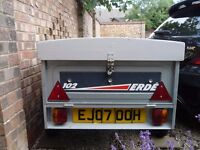 ERDE 102 TIPPING TRAILER WITH HARD TOP & SPARE WHEEL