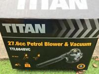 TITAN 2 STROKE GARDEN LEAF BLOWER VAC NEW