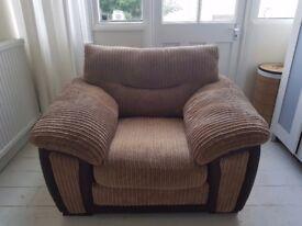 Brown Single Seat Sofa