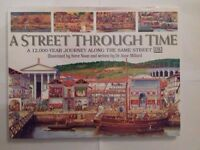 A Street Through Time - Beautifully Illustrated Educational Book - LIKE NEW - BUYER TO COLLECT