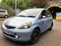 Honda Jazz 2003 1.3 petrol blue 5dr - breaking for spares / wheel nut