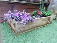 "Handmade Wooden Planters 31""L 12""W 6""D"